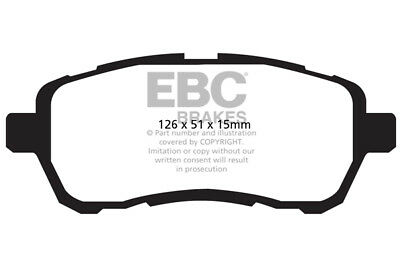 EBC Greenstuff Front Brake Pads for Suzuki Swift 1.2 (SZ2) (2010 > 17)