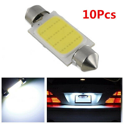 10PCS COB 42mm Canbus Error Free C5W Car SUV LED Reading Lamps Side Marker Light