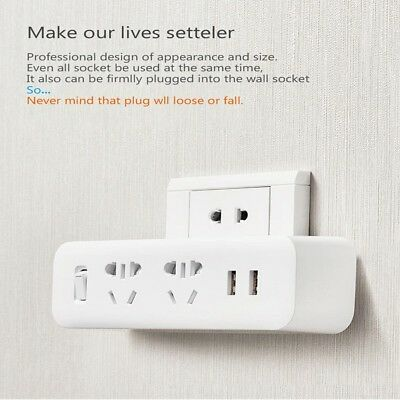 Xiaomi Outlet Power Strip Converter Socket Cable Plug Adapter 2 USB Quick Charge