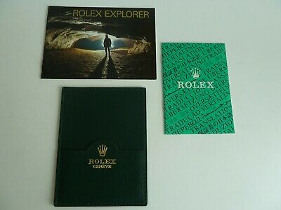 Rolex Explorer Booklet - deutsch von 1-1993
