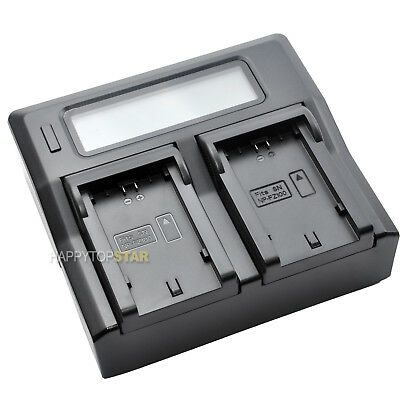 Dual LCD Fast Quick Charger for SONY NP FZ100 Battery BC-QZ1 A9 A7RM3 A7R III