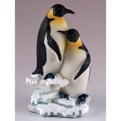 "Pair of Emperor Penguins Figurine Resin 4"" High New!"