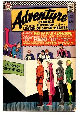 Adventure Comics #346 comic book 1966- Superboy- 1st Karate Kid Ferro Lad