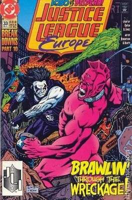 Justice League Europe #33 1991 VF Stock Image