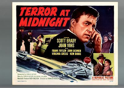 Terror At Midnight-Lobby Card #1-1956-Scott Brady Joan Vohs-Vf Vf