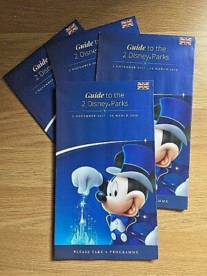 x3 Disneyland Paris 2018 Guide & Map 2 Parks Euro Disney Plan B4 U Go BRAND NEW