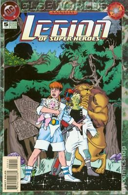 Legion of Super-Heroes Annual #5 1994 FN Stock Image