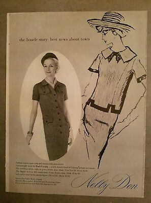 1958 Nelly Don fabric by Earl Loom vintage women's fashion ad