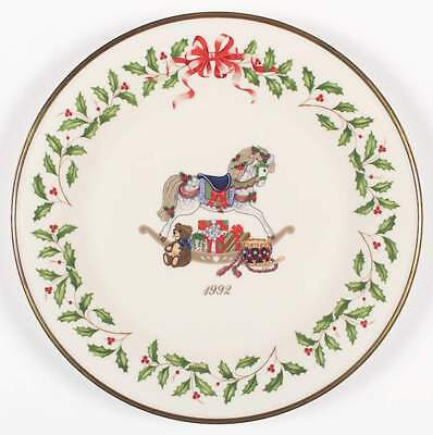 Lenox HOLIDAY ANNUAL CHRISTMAS PLATE 1992 Rocking Horse 74027