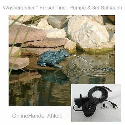 teich pumpe wasserspeier frosch gartenteich springbrunnen garten figur tauch neu eur 56 95. Black Bedroom Furniture Sets. Home Design Ideas