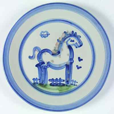 M A Hadley COUNTRY SCENE BLUE Horse Dinner Plate 5757460