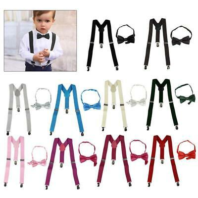Kids Baby Suspender and Bow Tie Matching Set Boys Girls Adjustable Suspenders BS