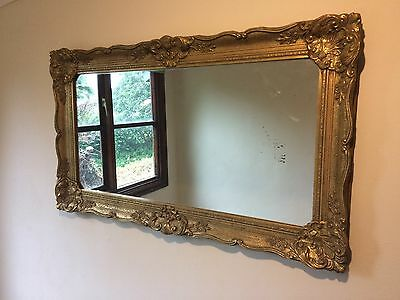 Pair Of Antique Gold Gilt Framed, Ornate Mirrors Made In Belgium.