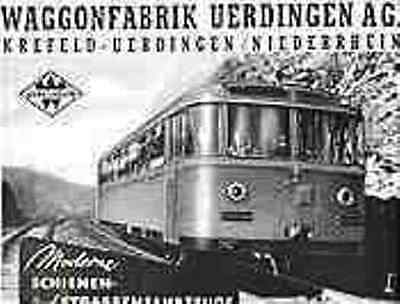 waggon fabrik uerdingen krefeld aktie 1942 stra enbahn eisenbahn duewag siemens eur 19 80. Black Bedroom Furniture Sets. Home Design Ideas