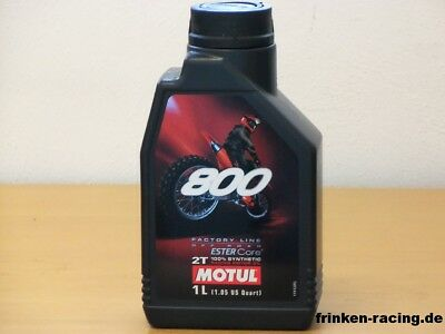 11,97€/l Motul 800 2T Off Road Factory Line 12 Liter
