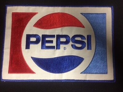 Patch Large Pepsi Soda Pop 8 5/8 by 6 vintage New Old Stock NOS
