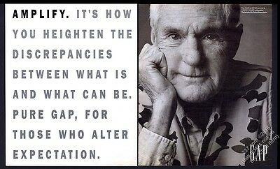 1993 Timothy Leary photo by Patrick Demarchelier The Gap store vintage print ad