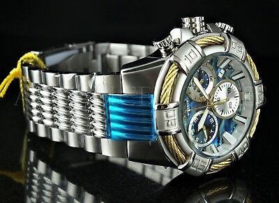 invicta men s 51mm bolt abalone dial gold wire swiss chronograph