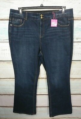 New Lane Bryant Tighter Tummy Technology Womens Jeans Bootcut Size 22 Reg. Nwt