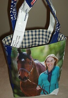 Unique--Recycled Feed Bag-Purse/Tote/Grocery-Horse,Farm,FFA 4-H