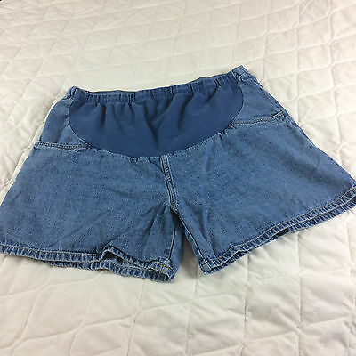 Womans New Maternity Denim shorts size 16 - preowned D6