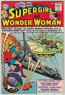 Brave And The Bold #63, Dc Comics 1966, Fn/fn+ Cond, Supergirl + Wonder Woman