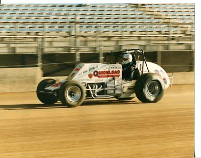 DAVE STEELE-8 X 10 PHOTO-INDIANA STATE FAIRGROUNDS DIRT TRACK-USAC -#88-vg