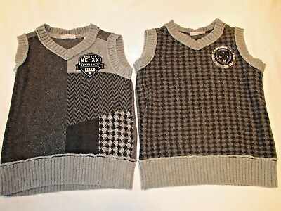 Lot of 2 boys vest, size Small.  Mexx   Gray, Easter vests.  Measurements listed
