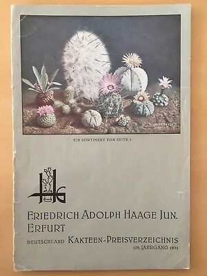 Friedrich Adolph Haage jun. Cactus Nursery Catalogue deeds & plants 1931