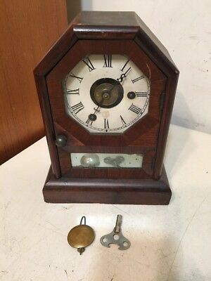 Nice Antique Seth Thomas Octagon Top Cottage Clock