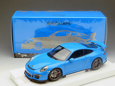MINICHAMPS 2013 PORSCHE 911 / 991 GT3 RIVERA BLUE 1:18 LE 299pcs*New*SUPER RARE!
