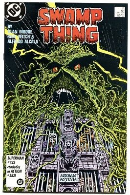 Swamp Thing #52-1986-High Grade Arkham Asylum Cover-1986