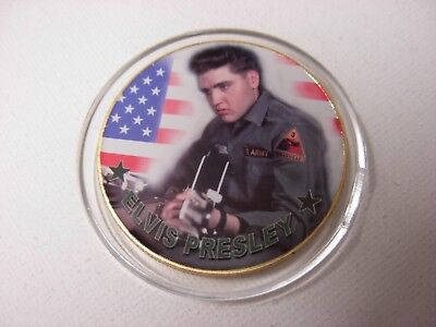 Elvis Presley Commemorative gold Coin. The King. 40th anniversary 12b
