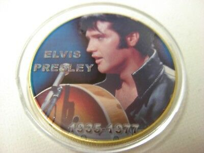 Elvis Presley Commemorative gold Coin. The King. 40th anniversary 16A