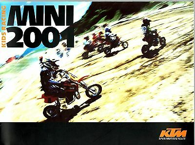 KTM Mini 2001 Kids Racing Motorcycle Brochure / Leaflet 7849E