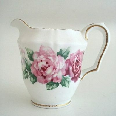 Crown Staffordshire TRINITY ROSE Individual Creamer