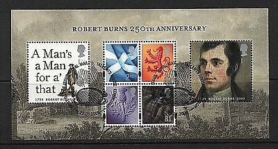 GB Stamps 2009 'Robert Burns' sg MSS157 - Fine used