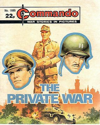 THE PRIVATE WAR No 1889 1985 66990 COMMANDO COMIC WAR STORIES IN PICTURES