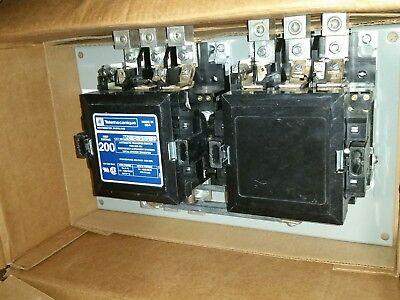 200 AMP 3PH 208/220 Volt TELEMECANIQUE MC-0-283-22 ONAN 307-2439 DUAL CONTACTOR