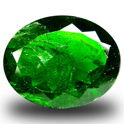 8.23 ct Fair Oval Shape (15 x 12 mm) Green Chrome Diopside Natural Gemstone