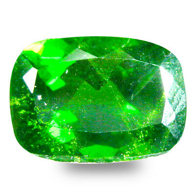 4.26 ct Amazing Cushion Shape (11 x 8 mm) Green Chrome Diopside Loose Gemstone