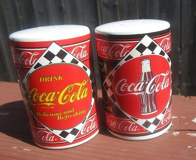 Coca Cola 1995  Salt & Pepper Shakers Enesco