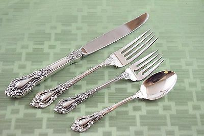 ELOQUENCE TRUE DINNER Sized Setting Lunt Sterling 4 pieces