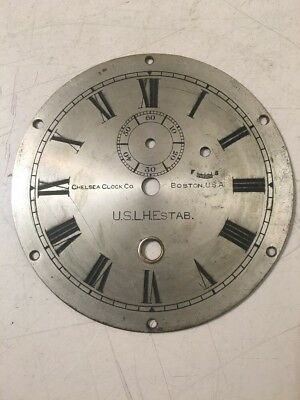 Vintage Chelsea USLH Lighthouse Establishment  Ships Clock Dial