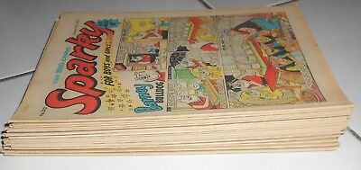 Lot Of  18 Sparky Comics , 1970 / 72 . Pansy Potter , Mr Bubbles. Invisible Dick