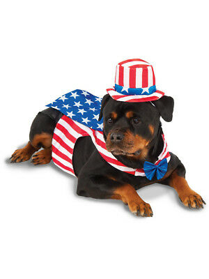 """Big Dogs Independence Day Uncle Sam For Dog Pet Costume Size XXXL 38"""""""