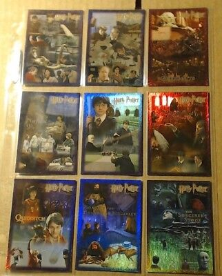 Harry Potter & The Sorcerers Stone 2005 ARTBOX (9) Foil Chase Cards Complete Set