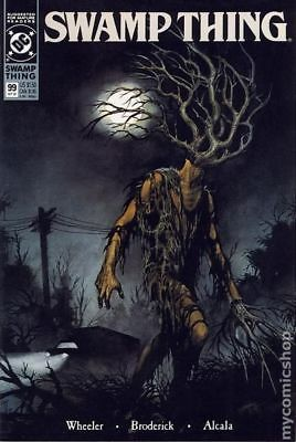 Swamp Thing (2nd Series) #99 1990 FN Stock Image