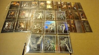 Harry Potter & The Goblet of Fire Trading Card Base Set 1-90, R1-R9 Foil Chasers