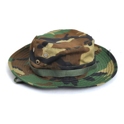 Woodland Camo Military Boonie Hunting Army Fishing Bucket Jungle Cap Hat  Size L a53c2f71a6a0